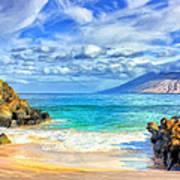 Private Beach At Wailea Maui Poster