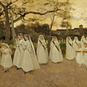 Procession Of Schoolgirls Poster