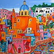 Procida Houses Poster
