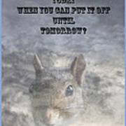 Procrastination Paradox Poster