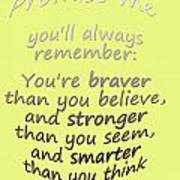 Promise Me - Winnie The Pooh - Yellow Poster