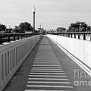 Prosser Bridge Perspective - Black And White Poster