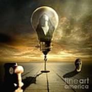 Protected In The Light Of The Cherubim Poster by Franziskus Pfleghart