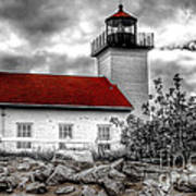 Protector Of The Harbor - Sand Point Lighthouse Poster