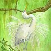 Proud Egret Poster