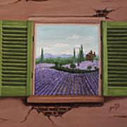Provence Lavander Fields Original Acrylic Poster