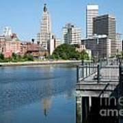 Providence Skyline And Riverfront Poster