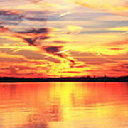 Provincetown Harbor Sunset Poster
