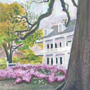 Prudhomme-rouquier House In Natchitoches Poster by Ellen Howell