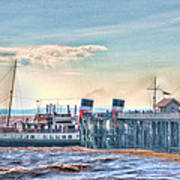 Ps Waverley At Penarth Pier Poster