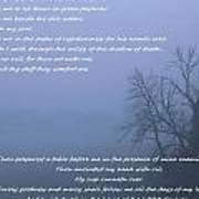 Psalm 23 Foggy Morning Poster