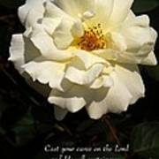 Psalm 55 22 Poster by Sara  Raber
