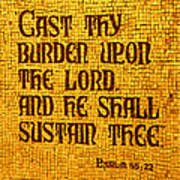 Psalm 55 Poster by James Hammen