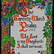 Psalms 23-1 Poster