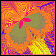 Psychedelic Butterfly Explosion Fractal 61 Poster