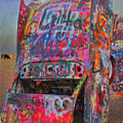 Psychedelic Cadillac Poster