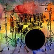 Psychedelic Drum Set Poster