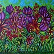 Psychedelic  Flower Garden Poster
