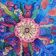 Psychedelic Squid 2 Poster