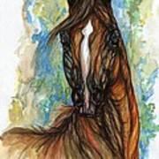 Psychodelic Chestnut Horse Original Painting Poster