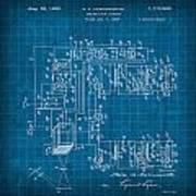 Pt Farnsworth Television Patent Blueprint 1930 Poster
