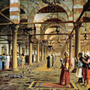 Public Prayer In The Mosque  Poster