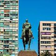 Public Statue Of General Artigas In Montevideo Poster
