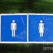 Public Toilet Sign Poster