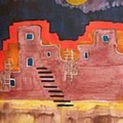 Pueblito Original Painting Poster