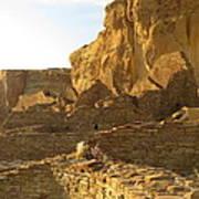 Pueblo Bonito And Cliff Poster