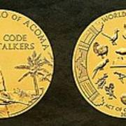 Pueblo Of Acoma Tribe Code Talkers Bronze Medal Art Poster