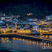 Puentedeume View From Cabanas Galicia Spain Poster