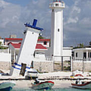 Puerto Morelos Lighthouse Poster