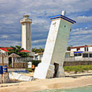 Puerto Morelos Lighthouses Poster