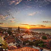 Puerto Vallarta Sunset Poster