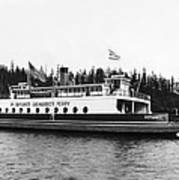 Puget Sound Ferry Boat Poster