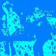 Pulp Fiction Dance Blue Poster