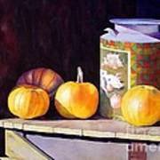 Pumpkiins At Collier Farm Poster