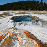 Punch Bowl Spring In Yellowstone Poster