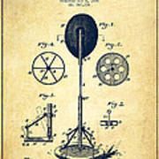 Punching Apparatus Patent Drawing From 1895 -vintage Poster