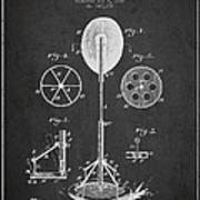 Punching Apparatus Patent Drawing From1895 Poster
