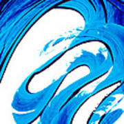 Pure Water 315 - Blue Abstract Art By Sharon Cummings Poster