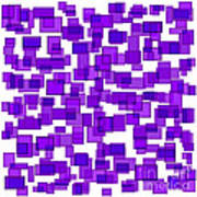 Purple Abstract Poster by Frank Tschakert