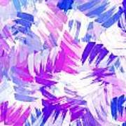 Purple Abstract Paint Pattern Poster
