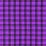 Purple And Black Plaid Textile Background Poster