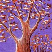 Purple And Orange Poster by Anastasiya Malakhova