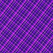 Purple And Pink Diagonal Plaid Fabric Background Poster