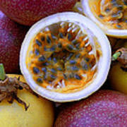 Purple And Yellow Passion Fruit Poster
