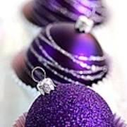 Purple Baubles Poster