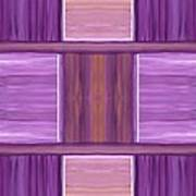 Purple Dreams Squares Poster